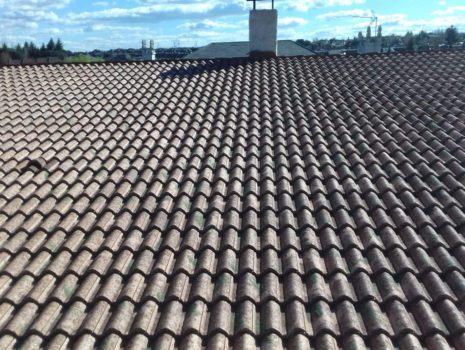 Cubierta con teja de hormigón